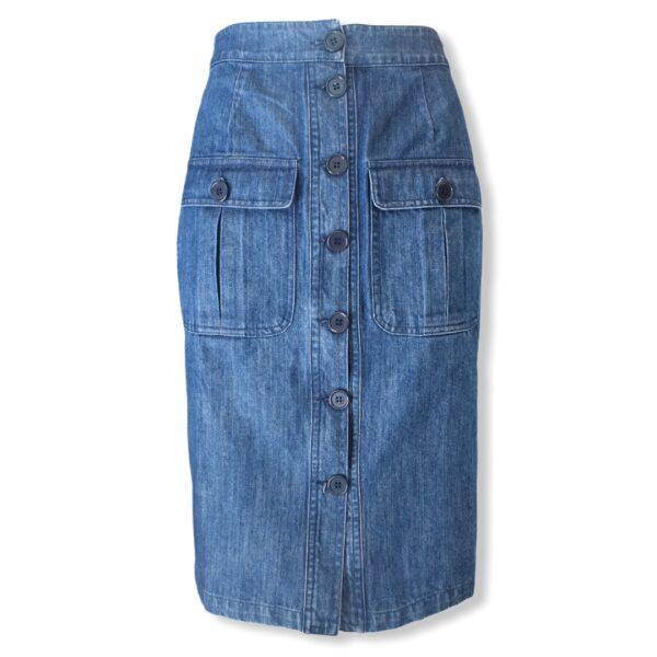 Τζιν στενή φούστα με κουμπιά Pepaloves
