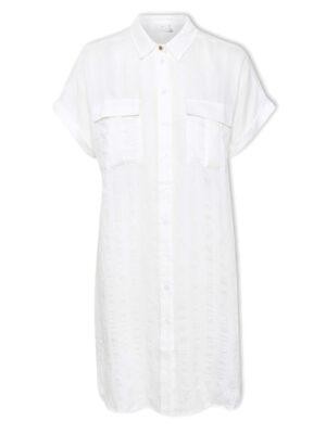 Λευκό μακρύ πουκάμισο γυναικείο Solin Kaffe