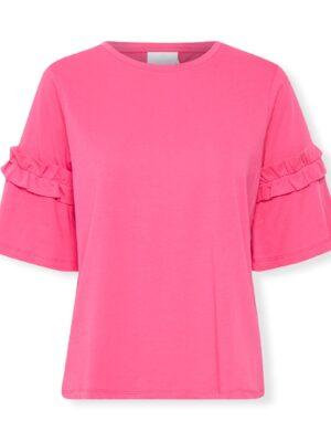 Φούξια κοντομάνικη μπλούζα Vicky Kaffe