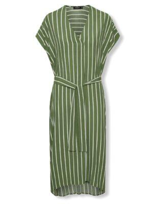 Πράσινο ριγέ σπορ φόρεμα Kallithea Soaked in Luxury