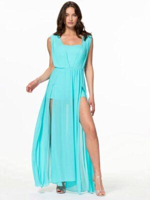 Μάξι φόρεμα με σορτς Rinascimento