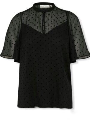 Μαύρη κοντομάνικη μπλούζα Cici Inwear