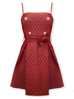 Δερμάτινο καπιτονέ φόρεμα Rinascimento