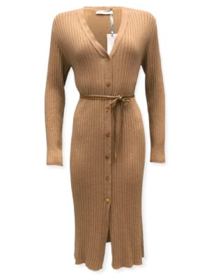 Μπεζ πλεκτό φόρεμα Rinascimento